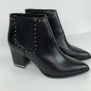Michael Kors Studded Leather Gemma Ankle Booties